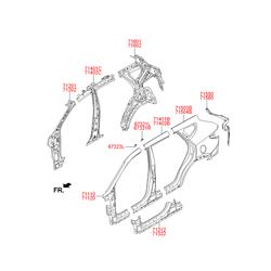 Панель кузова (Hyundai-KIA) 716012W200