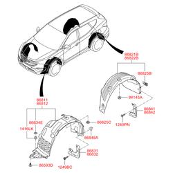 Брызговик (Hyundai-KIA) 868422W500