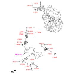 Опорный узел двигателя (Hyundai-KIA) 219702W000