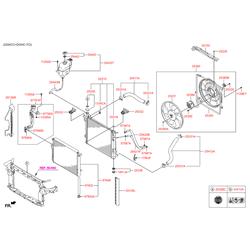 Опорная планка суппорта вентилятора (Hyundai-KIA) 291502W500