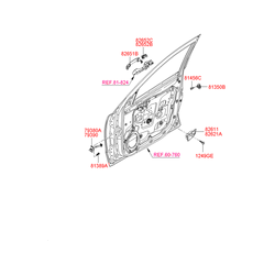 Окантовка ручки салона (Hyundai-KIA) 826112B000WK