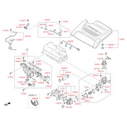 Обратный клапан системы циркуляции отработанных газов (Hyundai-KIA) 284102F700