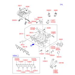 Обратный клапан системы рециркуляции выхлопных газов (Hyundai-KIA) 2845038210