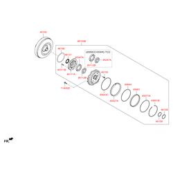 Насос масляный (Hyundai-KIA) 461003B030