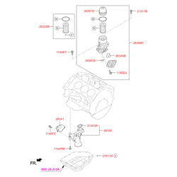 Насос масляный (Hyundai-KIA) 213103CBA0
