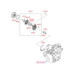 Насос масляный (Hyundai-KIA) 461103A550