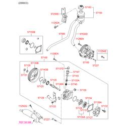 Насос гидроусилителя (Hyundai-KIA) 571002B300