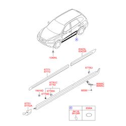 Молдинг порога кузова (Hyundai-KIA) 877302B000