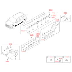Молдинг кузовной (Hyundai-KIA) 877322W000CA