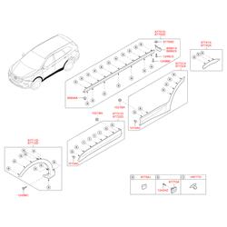 Молдинг кузовной (Hyundai-KIA) 877212W000CA