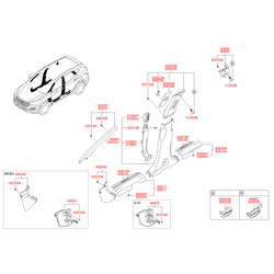 Металлическая накладка на порог кузова (Hyundai-KIA) 858832W000RYN