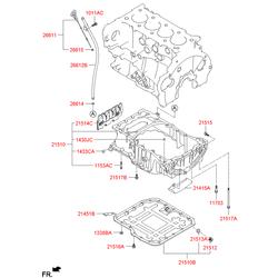 Масляный поддон двигателя (Hyundai-KIA) 215102F002