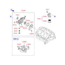 Масляный насос двигателя (Hyundai-KIA) 213103E001