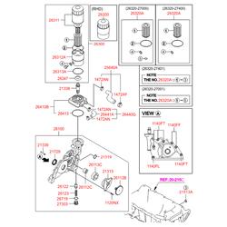 Масляный насос двигателя (Hyundai-KIA) 2131027010