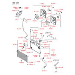 Маслоохладитель двигателя (теплообменник) (Hyundai-KIA) 254602B100