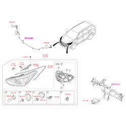 Лампочка фары (12в, 55вт) (Hyundai-KIA) 1864755007S