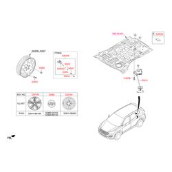 Кузовной кронштейн крепления запасного колеса (Hyundai-KIA) 62800B8000