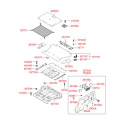 Крышка панели багажного отсека (Hyundai-KIA) 8576026000QE
