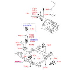 Кронштейн двигателя (Hyundai-KIA) 219102B500