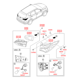 Корпус фонаря с рассеивателем (Hyundai-KIA) 924202W035