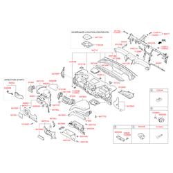Корпус приборной панели (Hyundai-KIA) 847102W100RYN