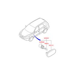 Корпус и линза рассеивателя указателя поворота (Hyundai-KIA) 923113K000