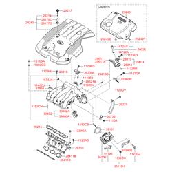 Корпус дроссельной заслонки (Hyundai-KIA) 351003E100