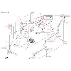 Компрессор кондиционера, полугерметичный (Hyundai-KIA) 977012W000