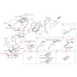 Кнопочный переключатель напольной консоли салона (Hyundai-KIA) 933152W2354X