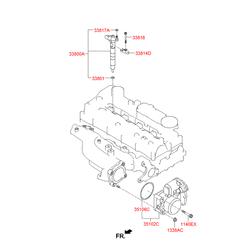 Клапан рециркуляции выхлопных газов (Hyundai-KIA) 351002F600
