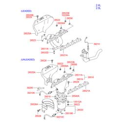 Каталитический нейтрализатор выхлопных газов (Hyundai-KIA) 2851037230
