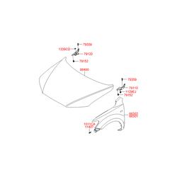 Капот (Hyundai-KIA) 664002B030