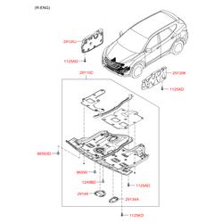 Защитная панель моторного отсека (Hyundai-KIA) 291102W500