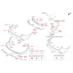 Защита бампера (Hyundai-KIA) 86665B8500