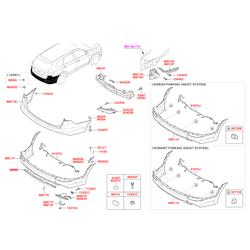 Защита бампера (Hyundai-KIA) 86665B8000