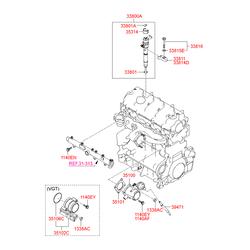 Дроссельная заслонка в сборе (Hyundai-KIA) 3510027900