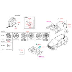 Демпфер кронштейна запасного колеса (Hyundai-KIA) 628522W000
