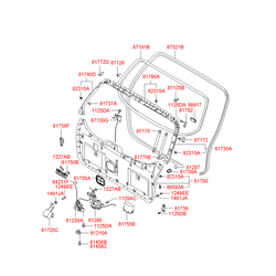 Демпфер багажной двери (Hyundai-KIA) 817382E000
