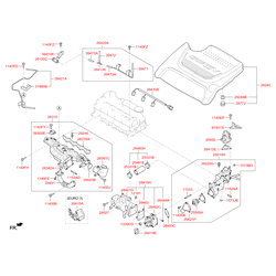 Декоративная крышка двигателя (Hyundai-KIA) 292402F611