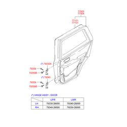 Дверь (Hyundai-KIA) 7700326110