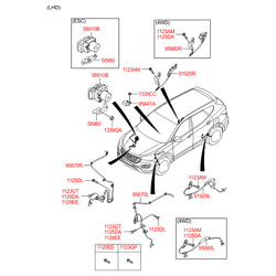 Датчик АБС (количества оборотов колеса) (Hyundai-KIA) 956802W000