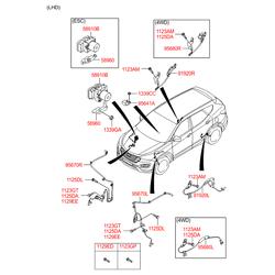 Датчик АБС (количества оборотов колеса) (Hyundai-KIA) 956812W000