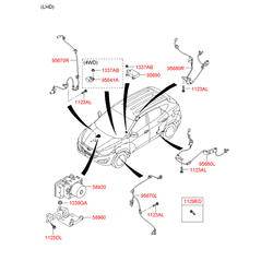 Датчик АБС (количества оборотов колеса) (Hyundai-KIA) 956402S000