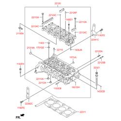 Головка блока цилиндров (Hyundai-KIA) 552F52FU00