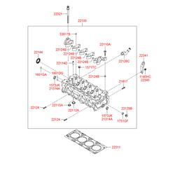 Головка блока цилиндров (Hyundai-KIA) 2210027800
