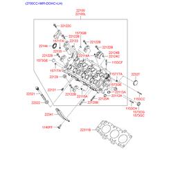Головка блока цилиндров (Hyundai-KIA) 2210038105