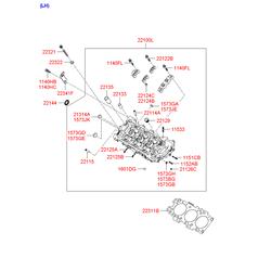 Головка блока цилиндров (Hyundai-KIA) 221003E052