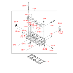 Головка блока цилиндров (Hyundai-KIA) 2210027750