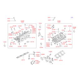 Головка блока цилиндров (Hyundai-KIA) 2210027400