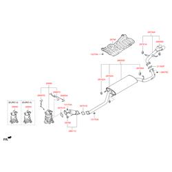 Глушитель с выхлопной трубой (Hyundai-KIA) 286502W500